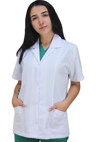 Dr. Mia Kadın Doktor Önlüğü Iş Ceketi Veteriner Laborant Eczacı Ceket Boy