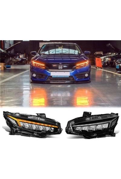 Auto Gp Honda Civic Fc5 Ön Far Lambası Matrix Ledli 2016+