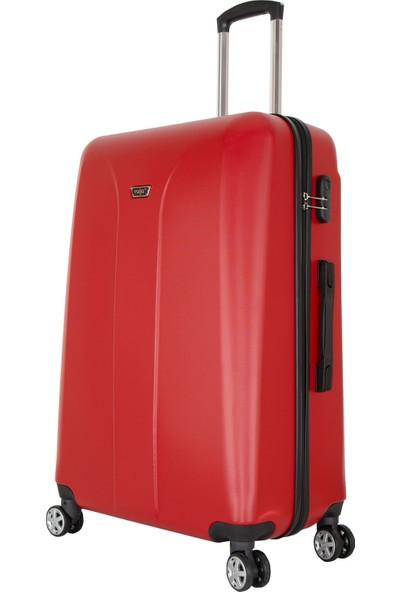 Valja VL-280 Milano Serisi Kırmızı 3 Lü Set Valiz