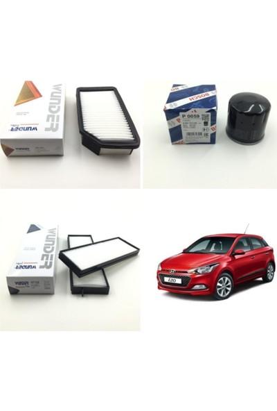Wunder Hyundai I20 1.4 Benzinli (2009 - 2014) Filtre Bakım Seti