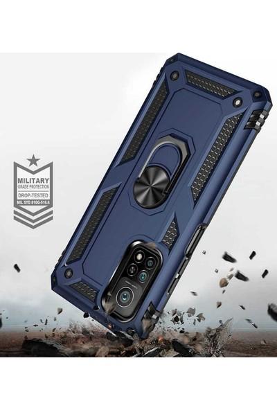 Case 4u Xiaomi Mi 10T Pro 5g Kılıf Çift Katmanlı Yüzüklü Manyetik Vega Kapak Siyah