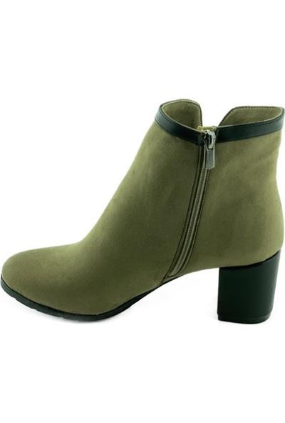 Marine Shoes 20K-065-105 Kadın Bot Vizon Süet