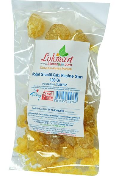 LokmanAVM Doğal Granül Çakıl Reçine Sarı 100 gr Paket
