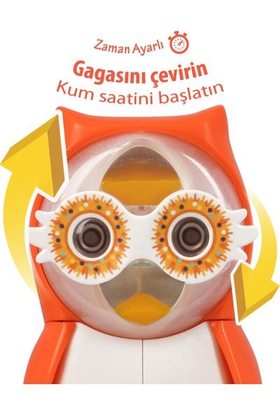 Rocs Baby Owl Bakım Seti - Bebek Diş Macunu + Diş Fırçası + Flipper Baykuş Saklama Kabı