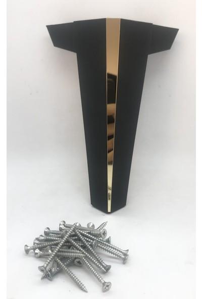 Plastik Ayak Diyarı Modern Yıldız Siyah 20 cm Pleksili Dekoratif Mobilya,Kanepe ,Koltuk Ve Baza Ayağı