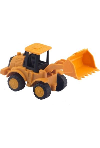 Happy Kids Oyuncak Sürtmeli Iş Makineleri Şantiye Seti Kahverengi Kinetik Kum, Kamyon, Kepçe, Kazıyıcı, Harç K