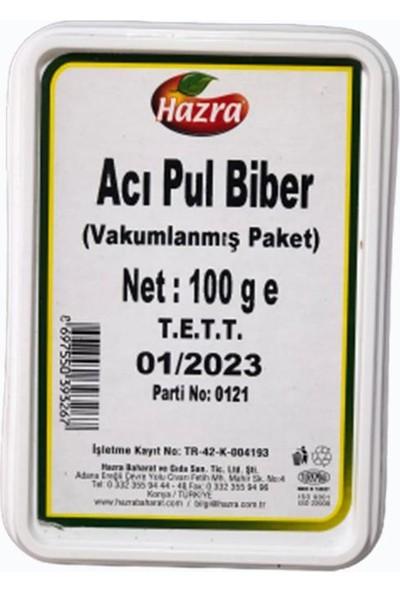 Hazra Acı Pul Biber 100 gr Vakulmanmış Paket