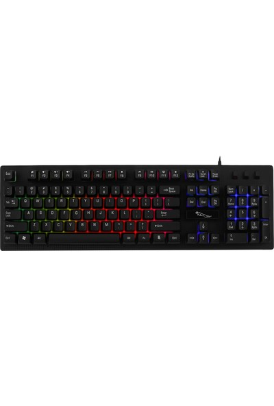 MF Product Strike 0646 Kablolu Mekanik Hisli Membran Gaming Klavye Siyah