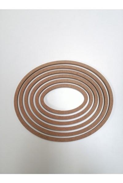 Otto Ahşap 8 mm Oval 6'lı Kasnak (Çap 29-26-23-20-17-14 Cm)