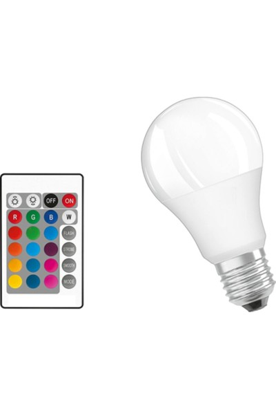 General LED 9 Watt Renkli Rgb Ampul-Beyaz Işıklı