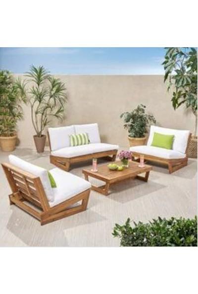 Zerka Conforlove Bahçe Balkon Takımı Yeni Tasarım 2+1+1+Orta Sehpa