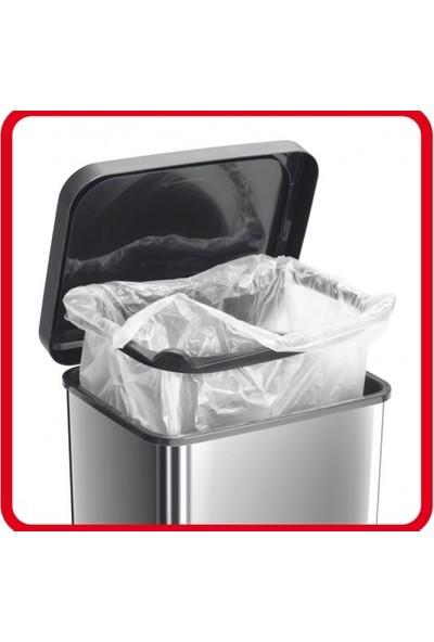 Rotho Paso Pedallı Çöp Kutusu 40 L Metalik