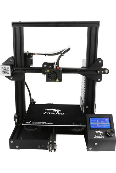 Creality 3D Ender-3 Yüksek Hassasiyetli Dıy 3D Yazıcı (Yurt Dışından)