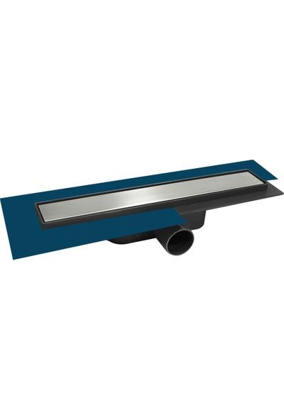 FEHASTEELSabit Çıkışlı Yalıtım Etekli Mebranlı Plain Model Duş Kanalı Q50 20cm