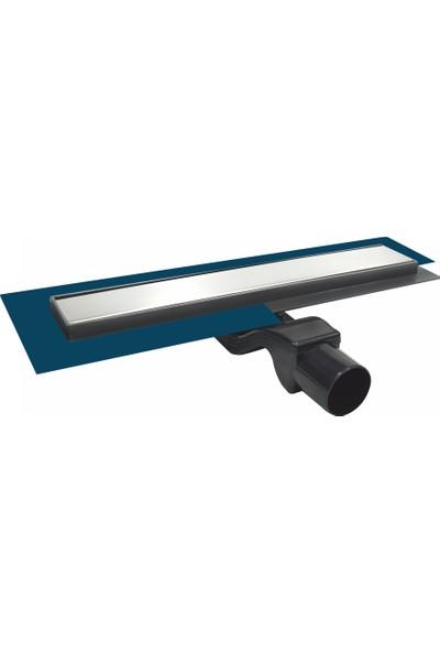 FEHASTEEL360 Döner Başlıklı Yalıtım Etekli Mebranlı Plain Duş Kanalı Q50 50cm