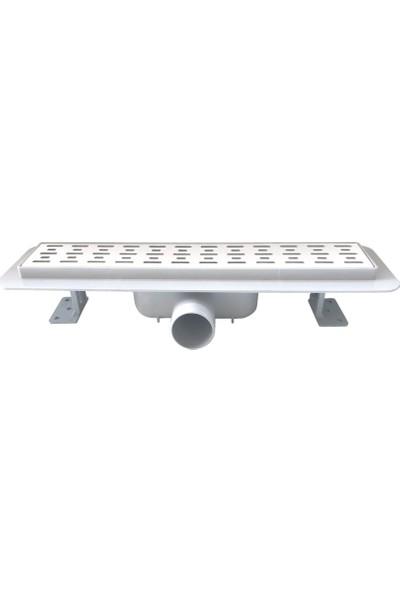FEHASTEELSabit Çıkışlı Yalıtım Etekli Slot Model Duş Kanalı Q50 40cm
