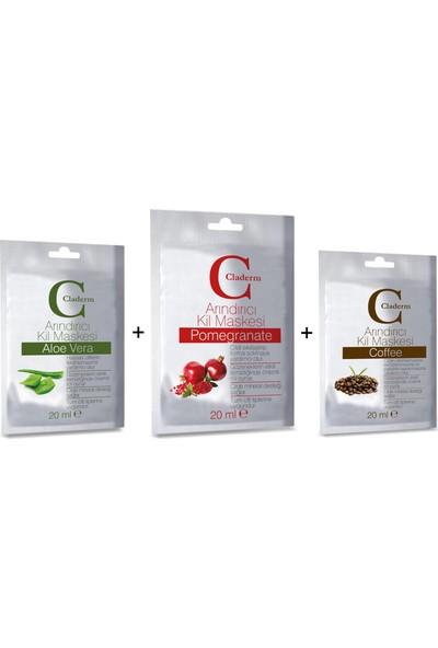 Claderm 20 ml Aloe Vera-Pomegranate-Coffee Set