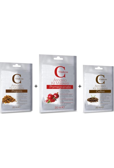 Claderm 20 ml Propolis-Pomegranate-Coffee Set