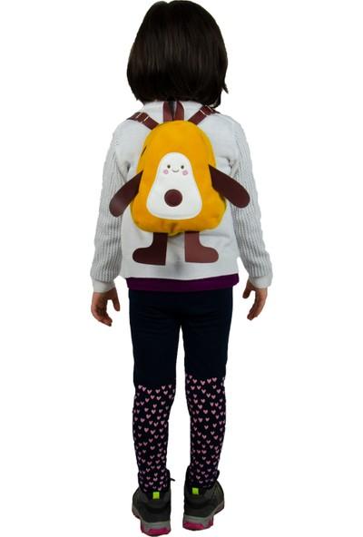 Frm Sevimli Avakado Peluş Mini Çocuk Sırt Çantası Sarı