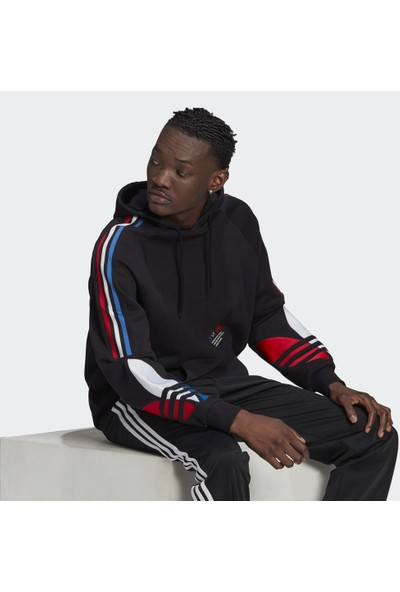 Adidas Adicolor Tricolor Erkek Sweatshirt