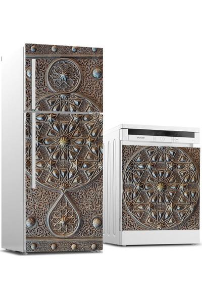 Jasmin2020 Buzdolabı ve Bulaşık Makinası Sticker Kaplama Etiketi Osmanlı Motif