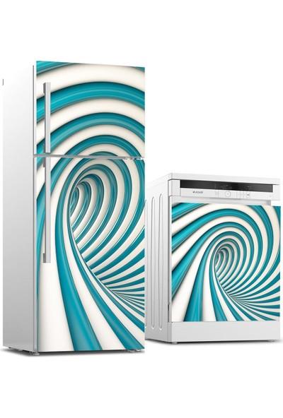 Jasmin2020 Buzdolabı ve Bulaşık Makinası Sticker Kaplama Etiketi 3D Dönence