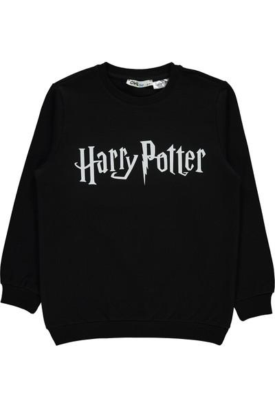 Harry Potter Erkek Çocuk Sweatshirt 6-9 Yaş Siyah