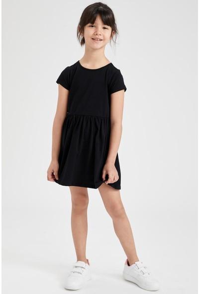 DeFacto Kız Çocuk Kelecek Desenli 2'li Kısa Kol Elbise
