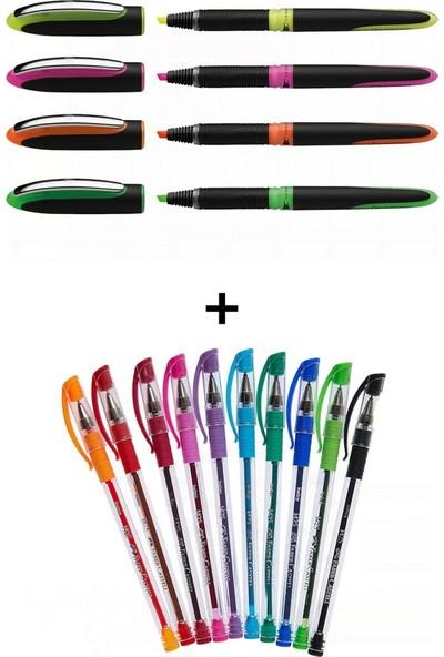 Schneider ve Faber-Castell 14 Renk Fosforlu ve Tükenmez Kalem Seti