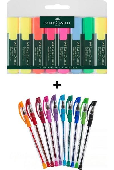 Faber-Castell Faber Castell 18 Renk Fosforlu ve Tükenmez Kalem Seti