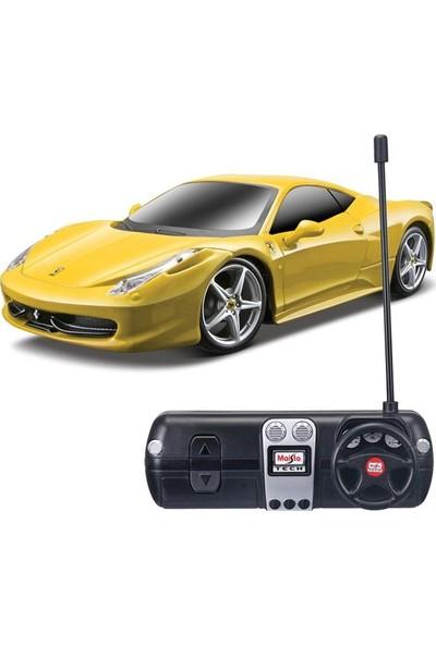 Maisto Oyuncak Araba Tech 1:24 Ferrari 458 Italia U/k Araba Sarı