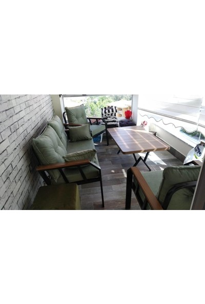Tu Tienda 2+1+1+Masa Demonte Bahçe Balkon Mobilyası