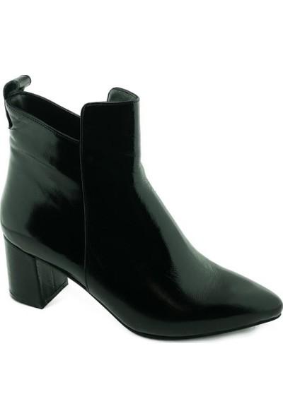 Marine Shoes 20K-009-743 Kadın Bot Siyah Rugan