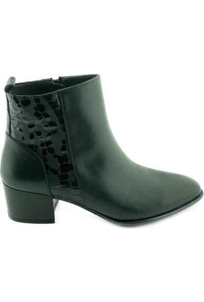 Marine Shoes 20K-009-1055 Kadın Bot Siyah Cilt