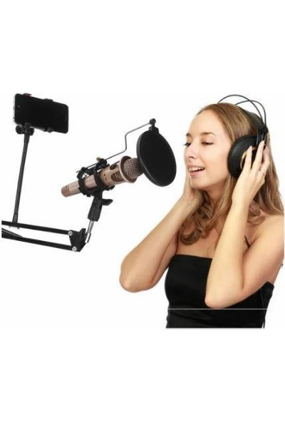 Azemax Masa Üstü Telefon ve Mikrofon Tutacak Stand 2 In 1