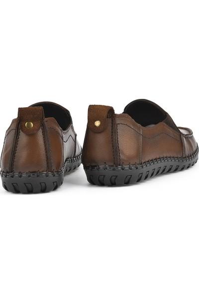 Ziya Erkek Deri Ayakkabı 111415 479002 Taba
