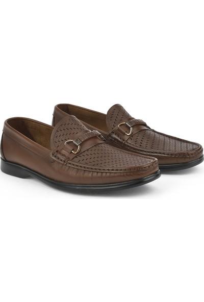 Ziya Erkek Deri Ayakkabı 111415 505148 Taba