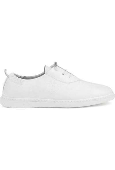 Ziya Erkek Deri Ayakkabı 111499 051 Beyaz
