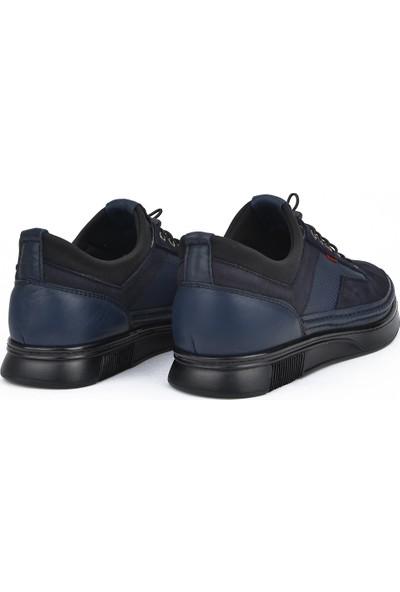 Ziya Erkek Deri Konfor Ayakkabı 111484 702 3 Lacivert