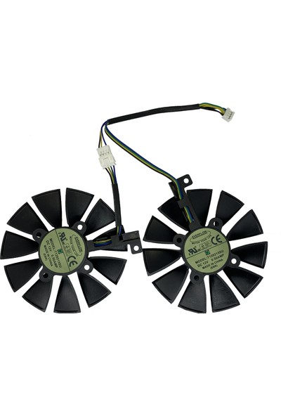 Everflow 87 mm mm Cooler Fan For Asus GTX1060 1070 Ti RX 470 570 580