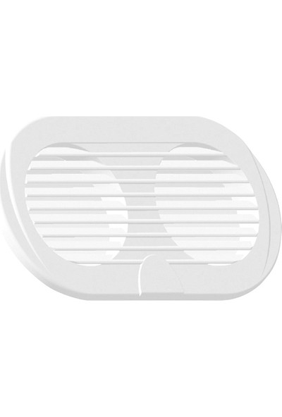 """Nuova Rade Vent. Shaft Grilles, Double, Ø3"""", 195X105MM, White"""