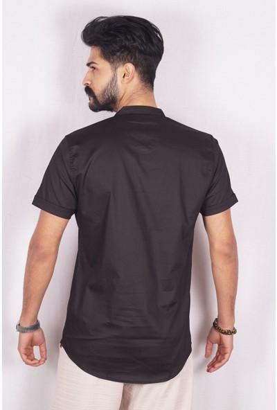 Marrakech Erkek Slim Fit Kısa Kol Gömlek