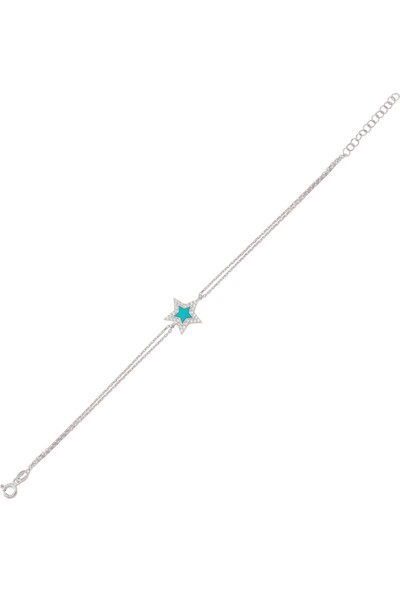 Altınsepeti Gümüş Mineli Yıldız Bileklik G196BLR2