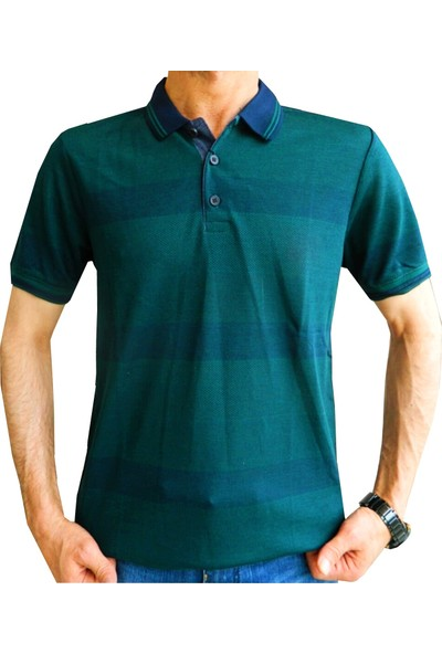 Bigazzi Erkek Ringel Jakar Polo Yaka Tshirt 3250