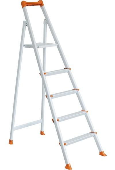 Zigana 4+1 Basamaklı Merdiven Hardy Beyaz