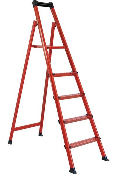 Zigana 4+1 Basamaklı Merdiven Hardy Kırmızı