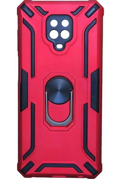 Mopal Apple iPhone 12 Pro Kamera Korumalı Cross Military Kılıf Kırmızı