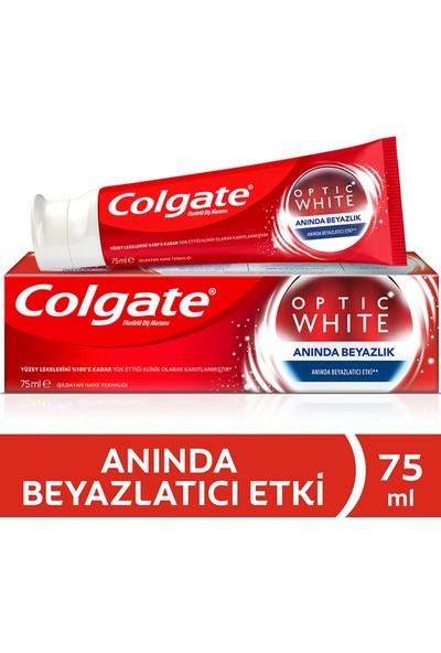 Colgate Optıc White Anında Beyazlık 75 ml + Aktif Kömür 50 ml + Dilsil Ağız Kokusu Önleyici Dil Temizleyici