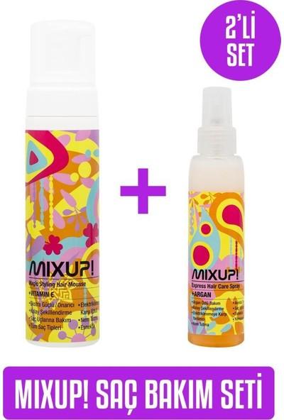 Mix Up Magic Saç Şekillendirici Köpük 200 ml x Mixup! Express Argan Bakım Spreyi 125 ml Set
