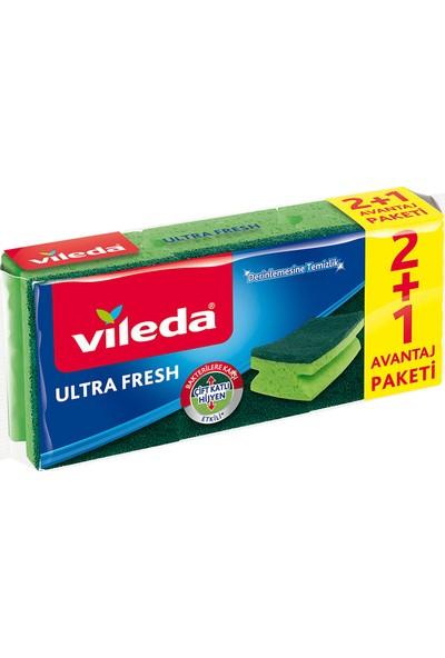 Vileda Ultra Fresh 2 + 1 Oluklu Bulaşık Süngeri
